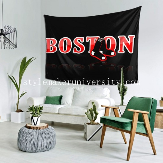 Tapestry Boston Red Sox hall Decor Wall Hanging Tapestry For Bedroom Tapestries 80*60 Inch(pp20210327)