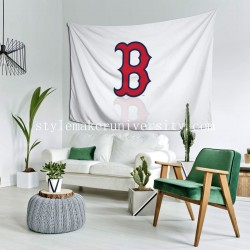 Tapestry Boston Red Sox game room Decor Wall Hanging Tapestry For Bedroom Tapestries 80*60 Inch(pp20210327)