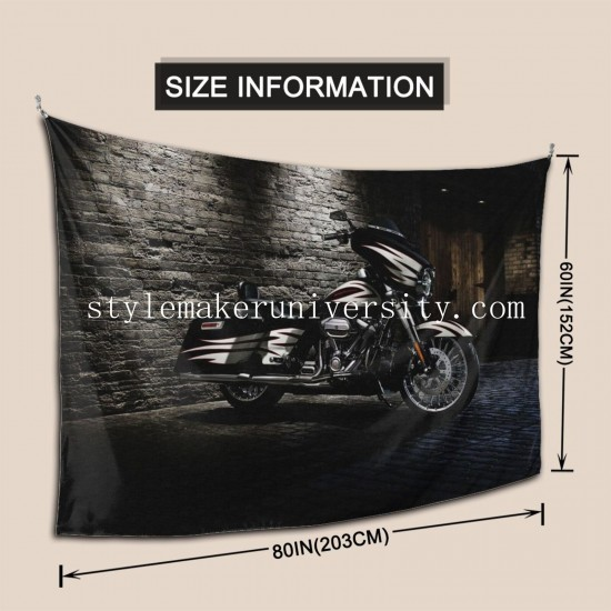 Tapestry Harley-Davidson Street Glide Living room Decor Wall Hanging Tapestry For Bedroom Tapestries 80*60 Inch(pp20210327)