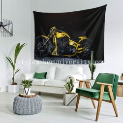Tapestry Harley-Davidson Moto Personnalisée Thunderbike Customs bedroom Decor Wall Hanging Tapestry For Bedroom Tapestries 80*60 Inch(pp20210327)