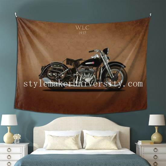 Tapestry Harley Davidson WLC hall Decor Wall Hanging Tapestry For Bedroom Tapestries 80*60 Inch(pp20210327)