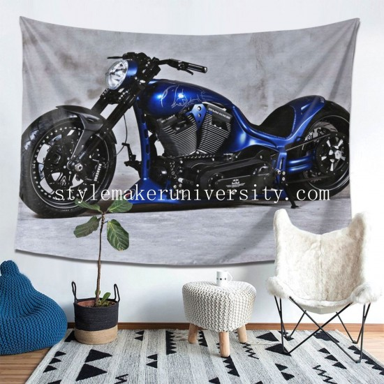 Tapestry Bike Harley-Davidson Motocycle hall Decor Wall Hanging Tapestry For Bedroom Tapestries 80*60 Inch(pp20210327)