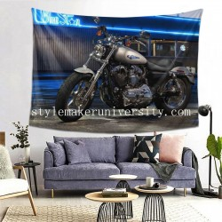 Tapestry Bike Harley-Davidson Motocycle Véhicule game room Decor Wall Hanging Tapestry For Bedroom Tapestries 80*60 Inch(pp20210327)