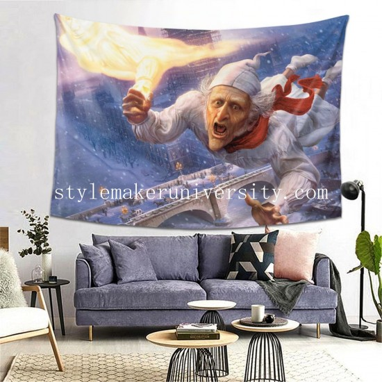 Tapestry A Christmas Carol (2009) game room Decor Wall Hanging Tapestry For Bedroom Tapestries 80*60 Inch(pp20210327)