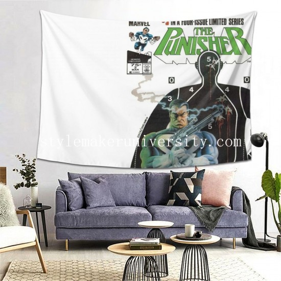 Tapestry Bande-dessinées - Punisher game room Decor Wall Hanging Tapestry For Bedroom Tapestries 80*60 Inch(pp20210327)