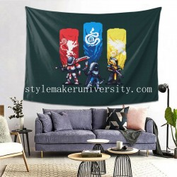 Tapestry Hunter Pixel Art Titan Warlock game room Decor Wall Hanging Tapestry For Bedroom Tapestries 80*60 Inch(pp20210327)